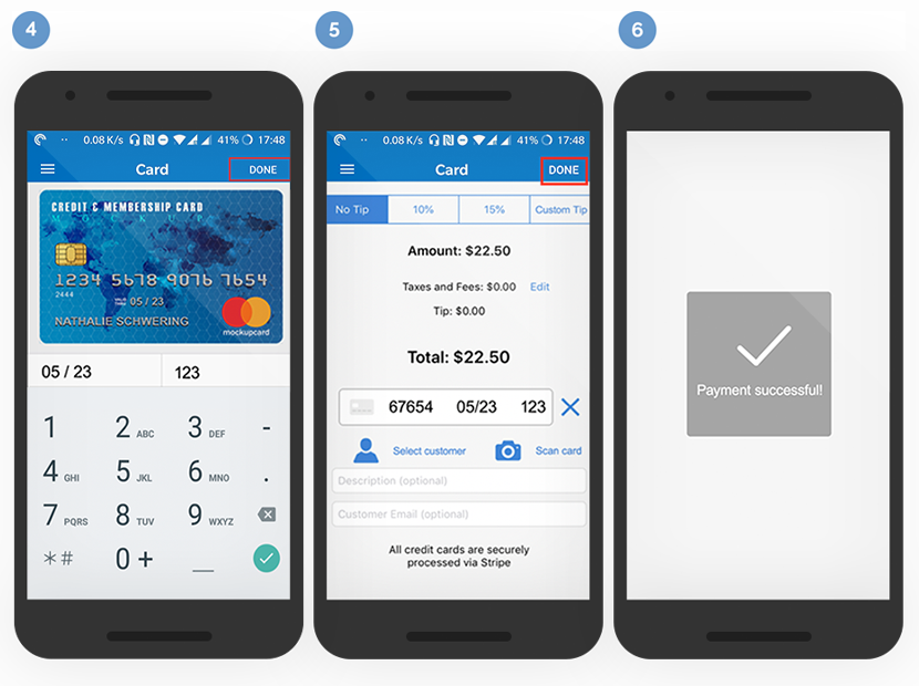 Android Credit Card Scanner - Chargestripe