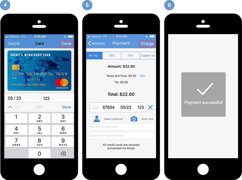Credit card scanner app - iPhone