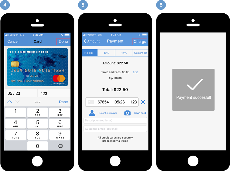 easily scan credit cards with your phone's camera